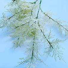 Искусственная ветка для новогоднего декора ( белая 85 см), фото 3