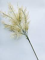 Искусственная ветка для новогоднего декора ( белая 85 см)