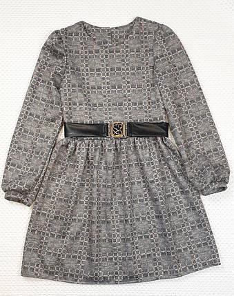 Платье для  девочки с пояском 134-152 бежевый, фото 2