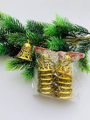 Колокольчики новогодние(10 шт), фото 2