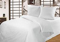 """Комплект постельного белья """"Белая"""" Бязь простыня на резинке"""