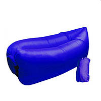 Надувной диван Ламзак Lamzac AIR CUSHION | Надувной лежак | Синий
