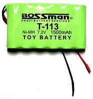 Аккумулятор Bossman T113, 1500mAh, 7.2V, 6*AA, Ni-Mh