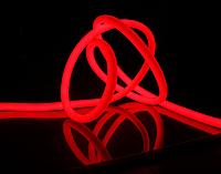 Светодиодный гибкий неон круглый 360° 220В, IP65 красный