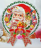 """Новогодний плакат """"Дед Мороз""""35х30см"""