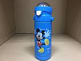 Термос детский питьевой с трубочкой Микки Маус 500 мл, фото 2