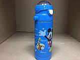 Термос детский питьевой с трубочкой Микки Маус 500 мл, фото 3