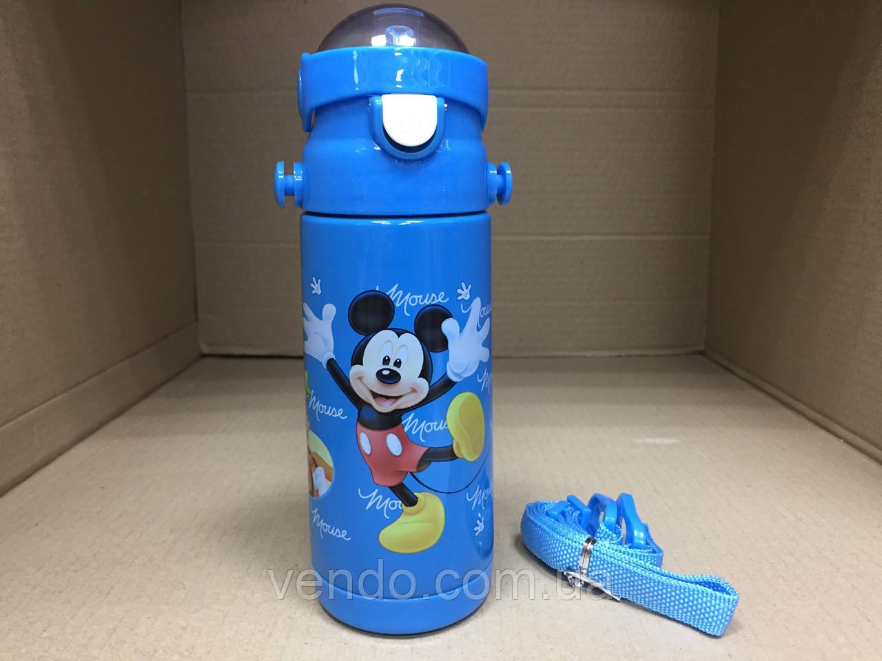 Термос детский питьевой с трубочкой Микки Маус 500 мл
