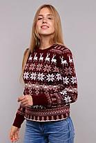 Модный вязанный свитер с оленями с 44 по 50 размер, фото 3