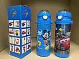 Термос детский питьевой с трубочкой Микки Маус 500 мл, фото 8