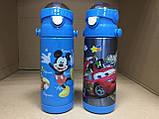Термос детский питьевой с трубочкой Тачки 500 мл, фото 7