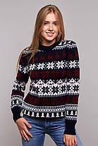Женский вязанный свитер с оленями с 44 по 50 размер, фото 3