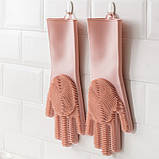 Силиконовые перчатки Xiaomi Jordan-Judy Silicone Gloves Pink, фото 4