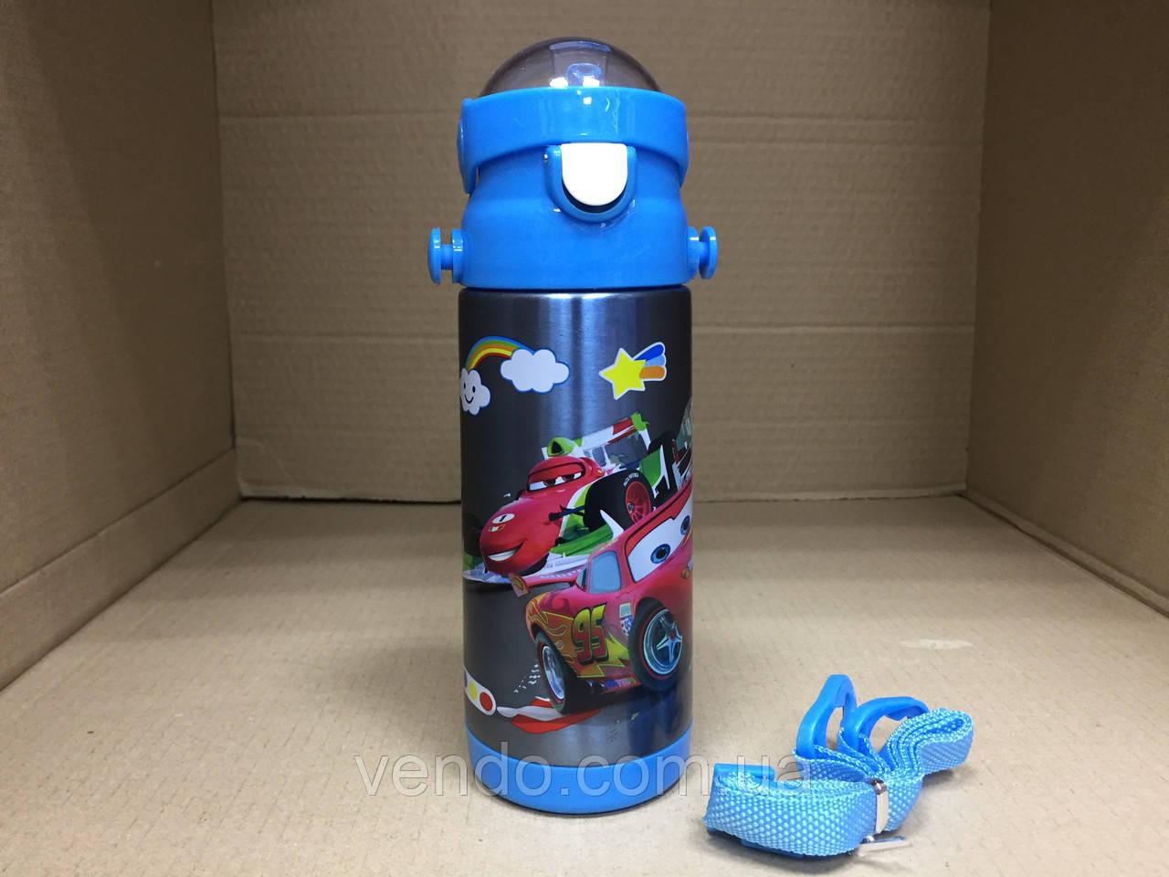 Термос детский питьевой с трубочкой Тачки 500 мл