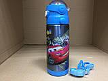Термос детский питьевой с трубочкой Тачки 500 мл, фото 2