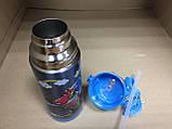 Термос детский питьевой с трубочкой Тачки 500 мл, фото 5