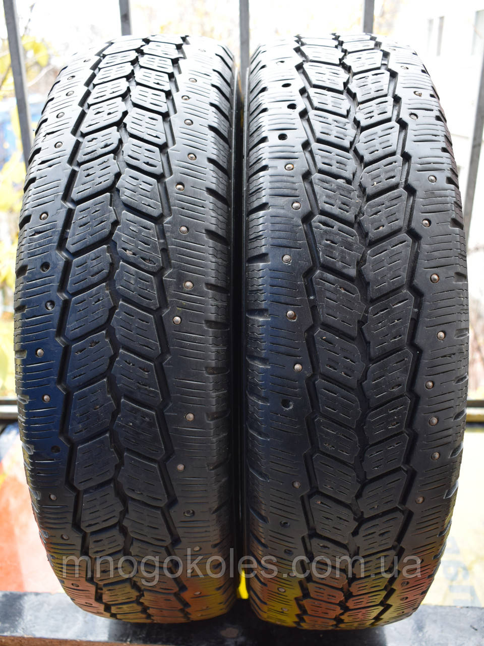 Шины б/у 185 R14С Michelin Agilis 81 Snow-Ice, шип-ЗИМА, 6 мм, пара