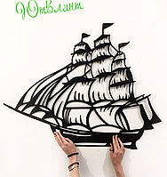 Картина из дерева  Корабль