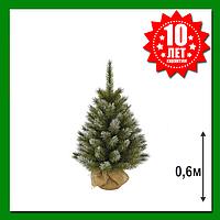 Искусственная сосна Triumph Tree Pittsburgh с эффектом инея 60 см Зеленая