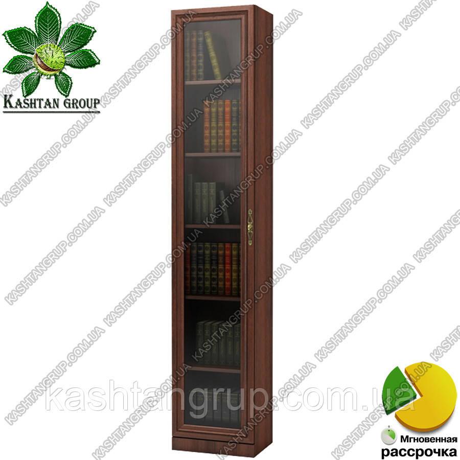 Книжный шкаф со стеклом Ш: 400 мм, Г: 285 мм, : 2030 мм