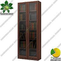 Книжный шкаф со стеклом Ш: 800 мм, Г: 285 мм, : 2030 мм