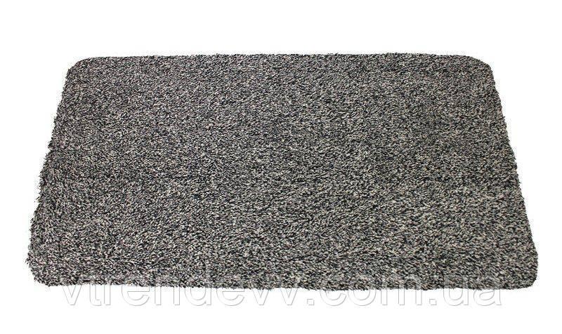 Коврик антигрязь придверный поглощающий Clean Step Mat серый