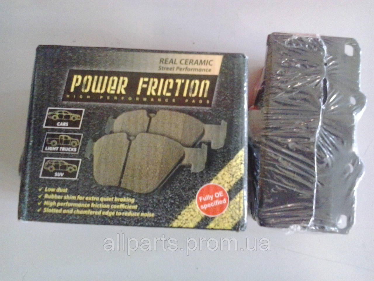Тормозные колодки керамические Power Friction (страна производитель USA)