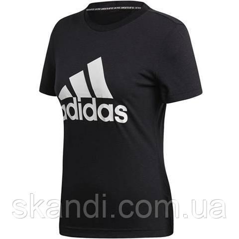 Футболка женская adidas W MH Bos Tee черная DY7732