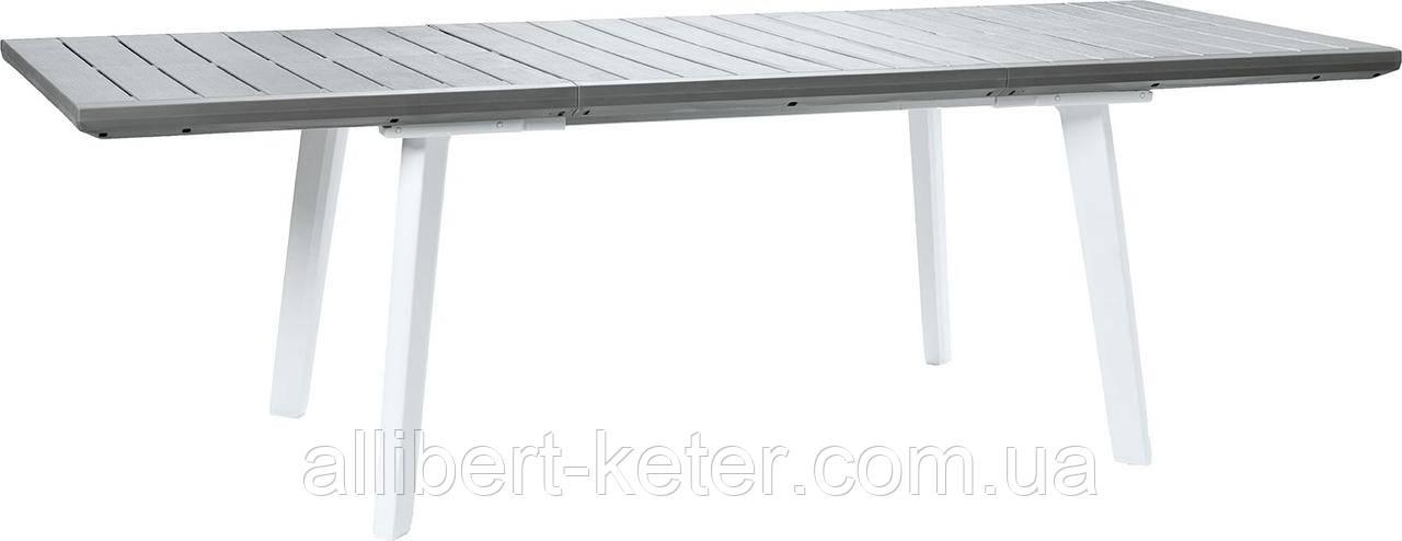 Стіл садовий вуличний Keter Harmony Extendable White Light Grey ( білий - світло сірий )