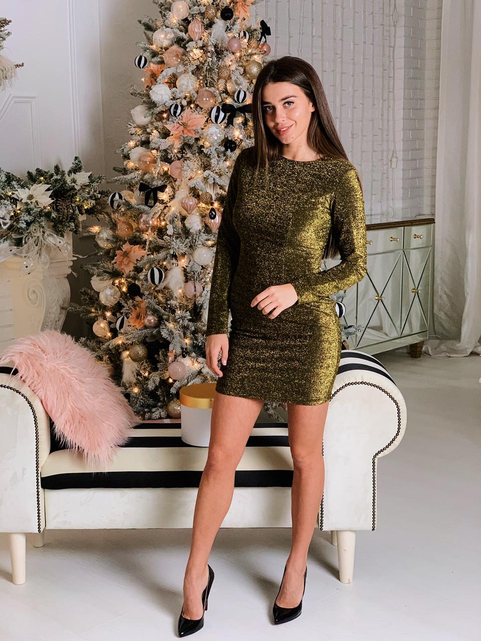 Платье блестящее К 00508 с 01