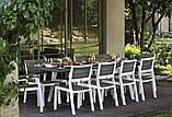 Стіл садовий вуличний Keter Harmony Extendable White Light Grey ( білий - світло сірий ), фото 9