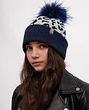 Зимняя шапка для девочки, ДембоХаус, Мишель, от 4 до 9 лет, фото 2