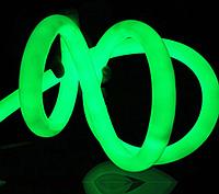 Светодиодный гибкий неон круглый 360° 220В, IP65 зеленый