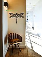 Картина из дерева  Стрекоза