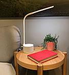 LED лампа настільна NOUS S7 White 8W 2700-6500K з Bluetooth колонкою, фото 8