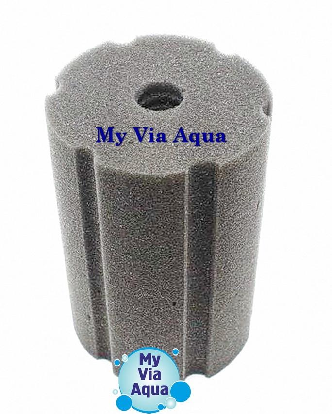 Фильтрующая губка 10x10x20 см, цилиндр с прорезями