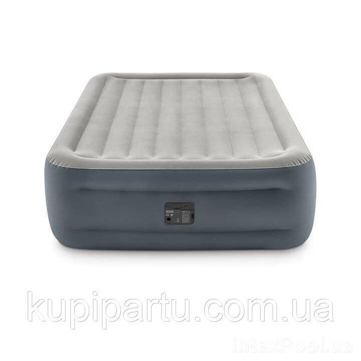 Надувная кровать Intex 64126, 152 х 203 х 46, со встроенным электрическим насосом. Двухспальная