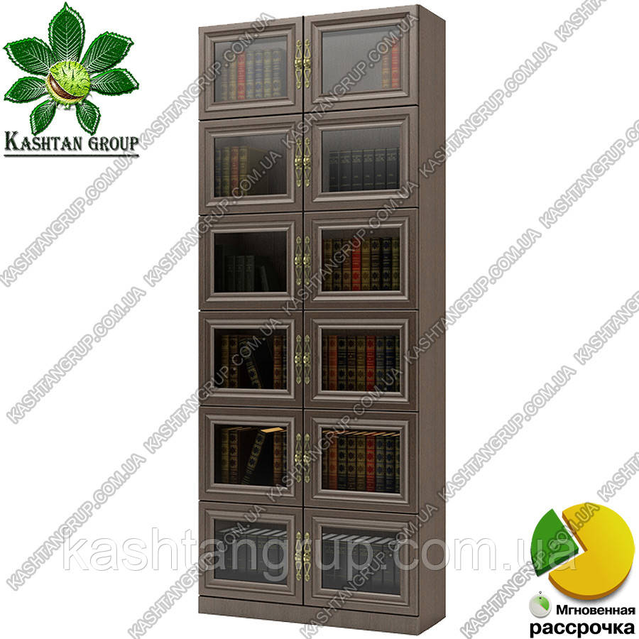 Книжный шкаф закрытый Ш: 800 мм, Г: 285 мм, : 2030 мм