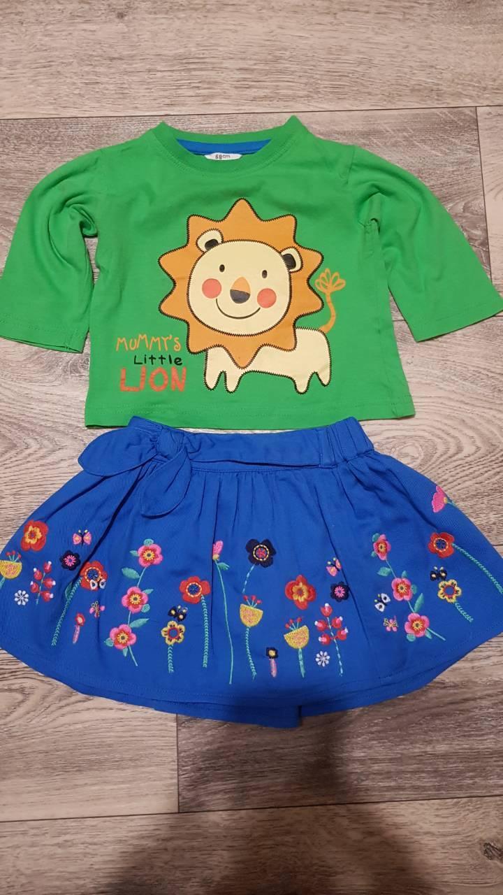 Юбка+футболка для девочки 08