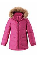 Малиновая куртка-пуховик для девочки Reima Leena 158 рост