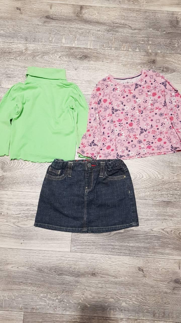 Юбка+футболки для девочки 09