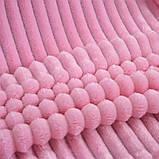 Плед теплый плюшевый мягкий в полоску материал велсофт Original blanket евро  200*230см Розовый, фото 2