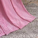 Плед теплый плюшевый мягкий в полоску материал велсофт Original blanket евро  200*230см Розовый, фото 3