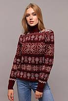 Молодёжный  вязанный свитер-гольф с новогодними узорами с 44 по 50 размер, фото 3
