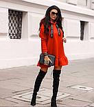 Туника платье на флисе. Цвета: хаки , красный , чёрный, фото 4