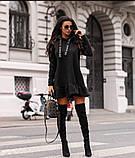 Туника платье на флисе. Цвета: хаки , красный , чёрный, фото 7