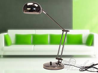Стильна настільна лампа патрон Е27 колір чорний хром Діаша&619-BHR