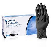 Рукавички нітрилові р-р S Safe Touch Black чорні (3,6 гр)