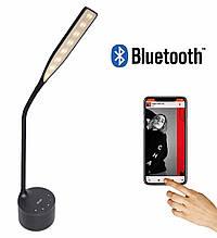LED лампа настільна NOUS S7 Black 8W 2700-6500K з Bluetooth колонкою