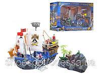 Пиратский корабль 55см с островом, фигурки, животные